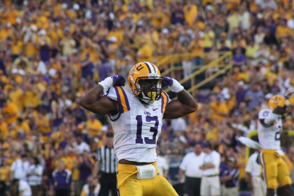 LSU cb sacks Prescott and flexes for the fans.