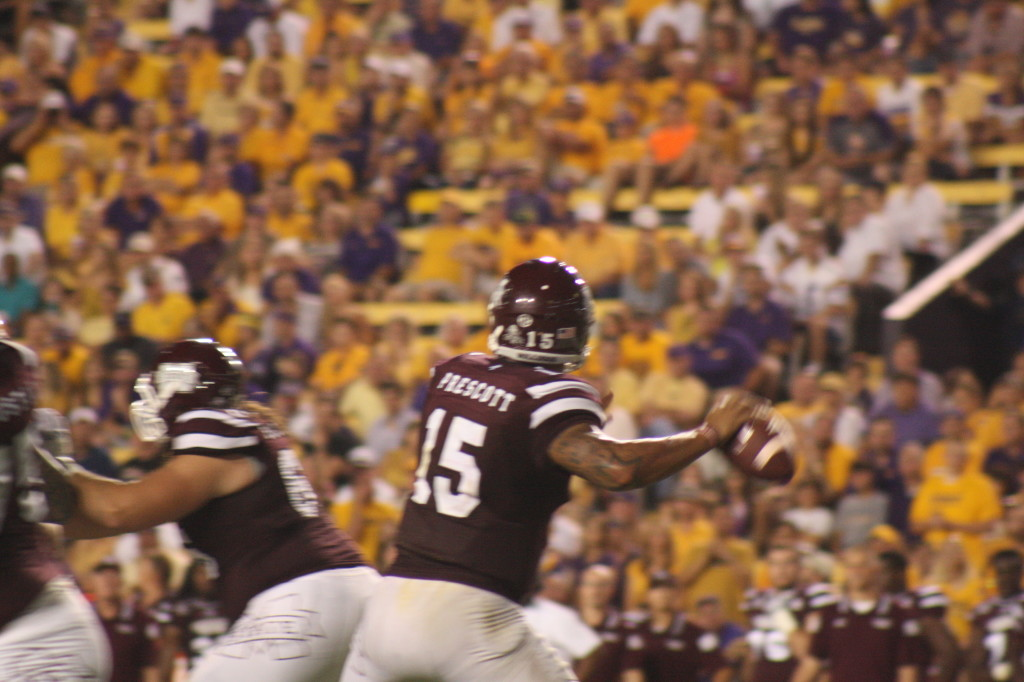 Louisiana native Dak Prescott about to let one fly.