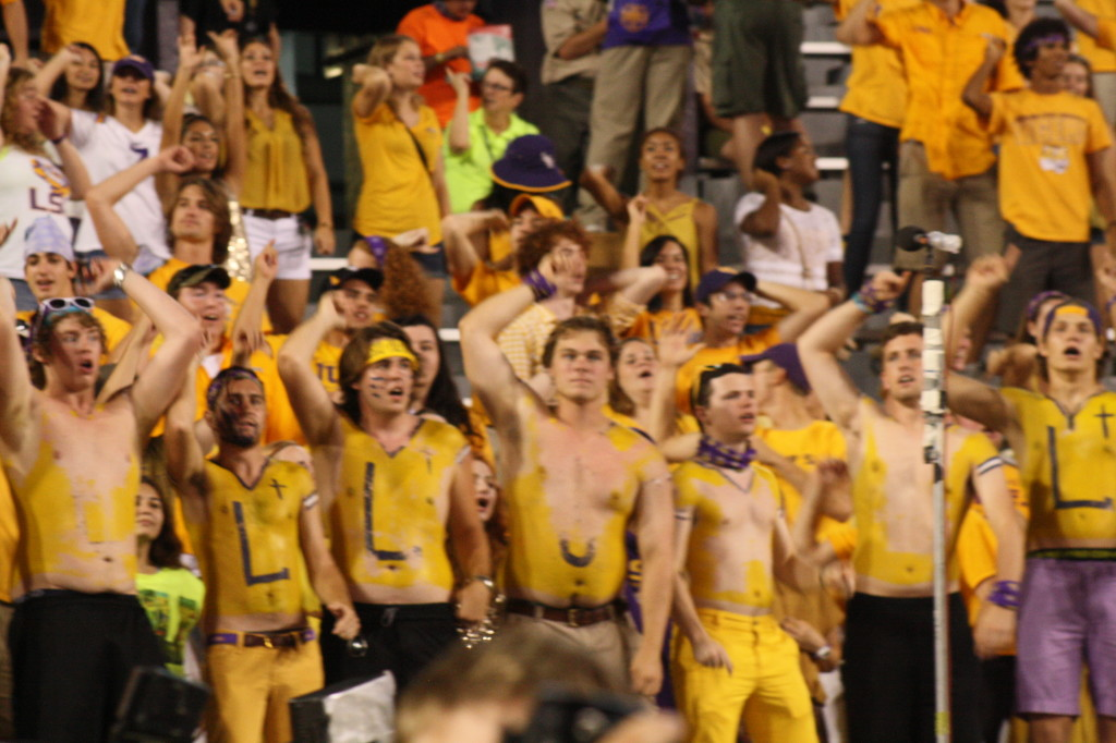 The faithful LSU Student Section still around to the very end.