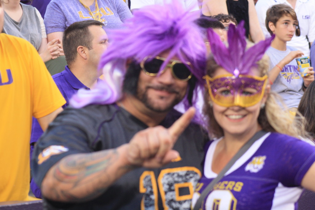 Our LSU Mardi Gra Fans.
