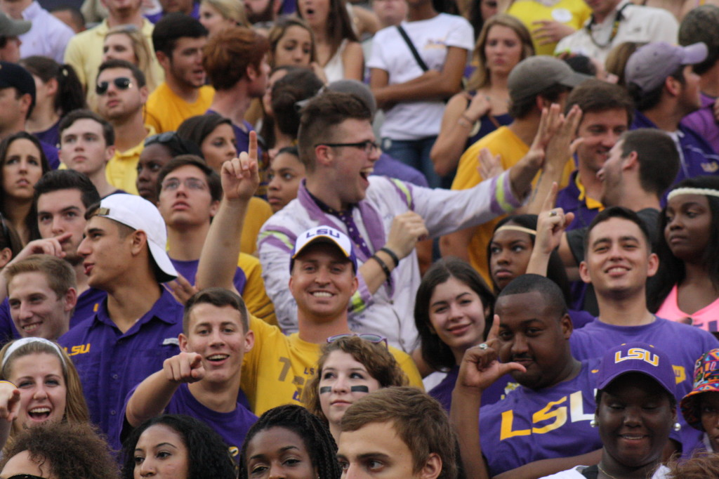 Some students who are cadets at LSU.