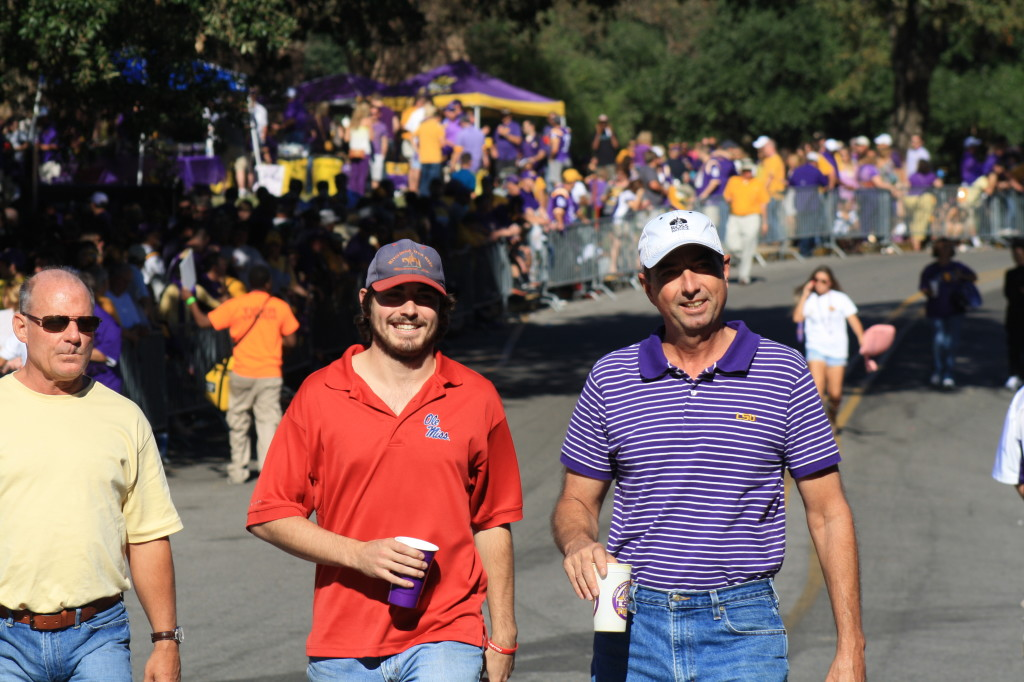 LSU and Ole Miss Fans hanging out