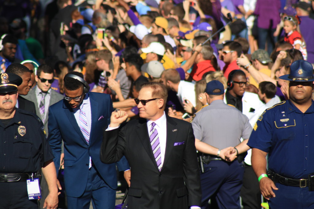 Here comes Coach Miles.
