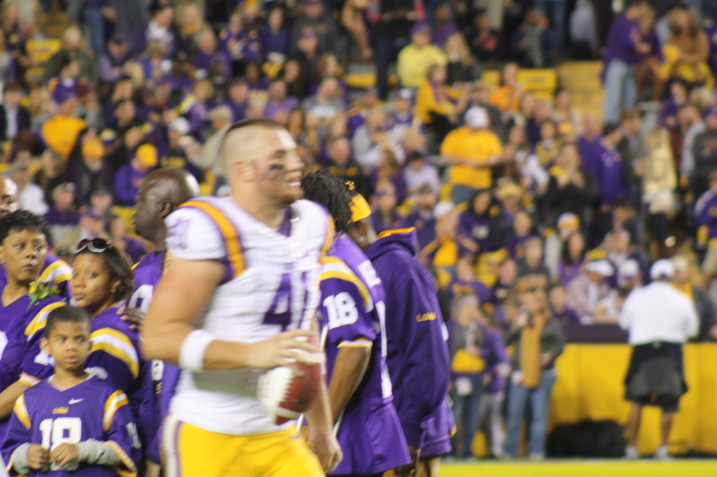 no.41 Travis Dickson running out for the Tigers.