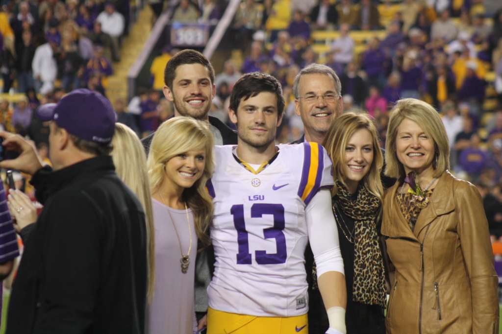 LSU Miles O'Briien hanging out with his family on LSU