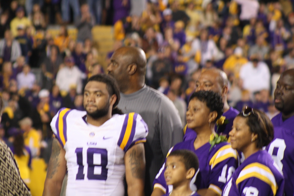 LSU Terrence Magee hanging out with his family for LSU Senior Day.