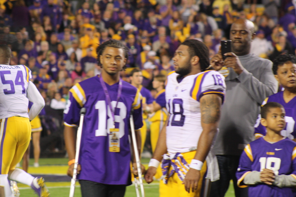 LSU Terrence Magee hanging out with family.