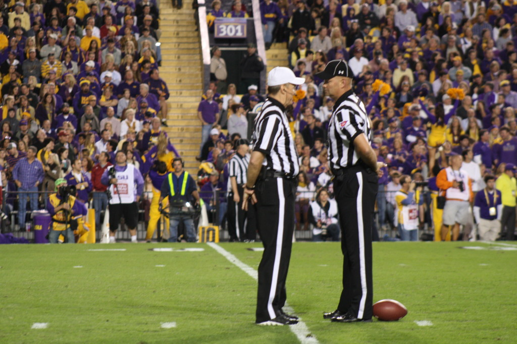 Having a good ole talk, so hows the grand kids.....   what s the game plan here...  lets keep the LSU