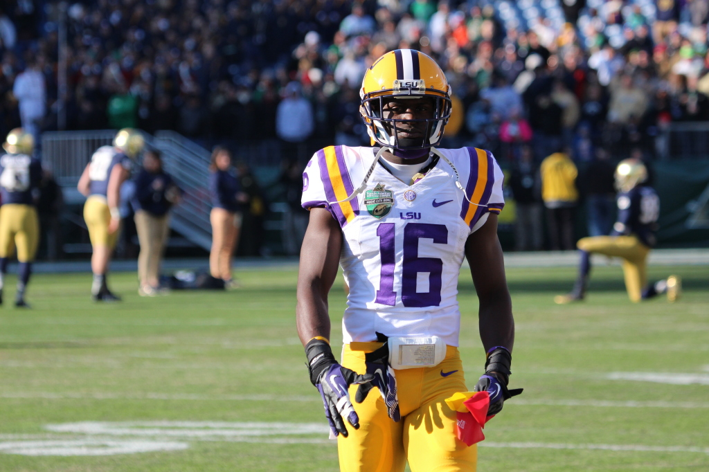 LSU Tre'Davious White getting ready for the Music City Bowl.