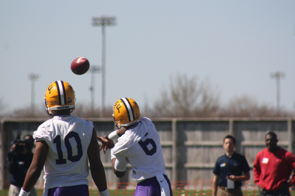 LSU Harris lets one fly.