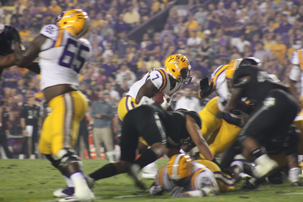 LSU Lineman are very big upfront, and should it vs AM